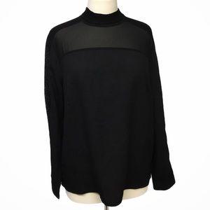 ADIVA Black Blouse Size Large